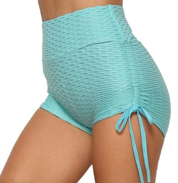 High Waist Brazilian Booty Scrunch Anti-cellulite Textured Push Up Shorts - Melonpook