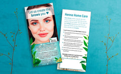 Brow Henna Customer DL Flyer - 100 pack