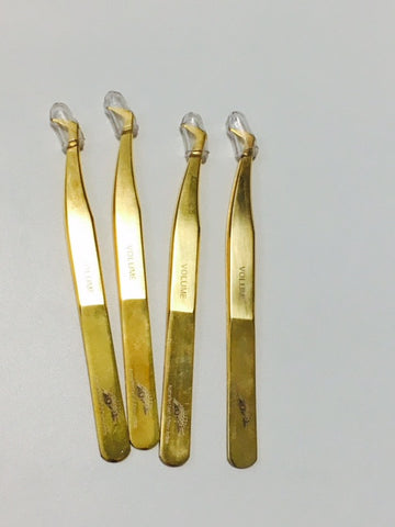 ALABA Gold Big Boot Tweezers - Seconds