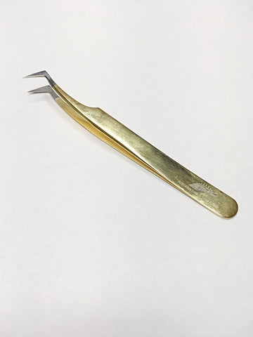 ALABA Gold (clear tip) L Foot Volume Tweezer