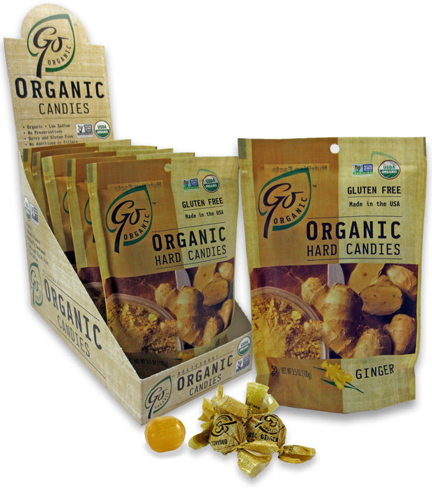 Go Organic Hard Candies - Ginger