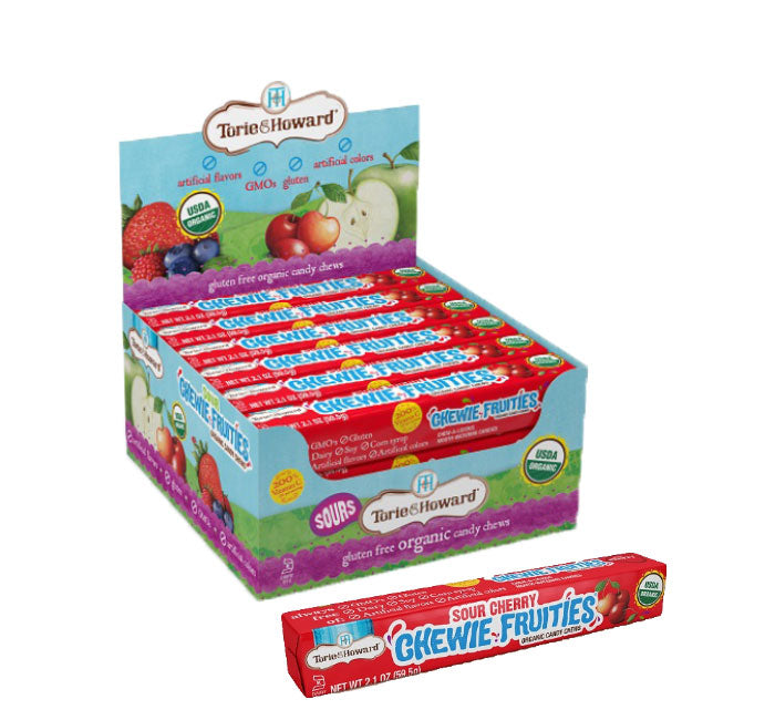 Torie & Howard Chewie Fruities Organic Candy Chews - Sour Cherry