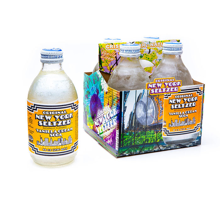 New York Seltzer Soda - Vanilla Cream Soda