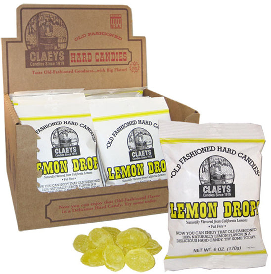 Claeys Old Fashioned Hard Candy - Lemon Drops