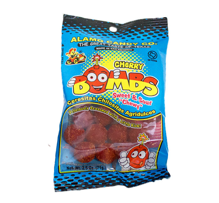 Alamo Candy - Cherry Bombs - Sweet & Sour w/ Chili
