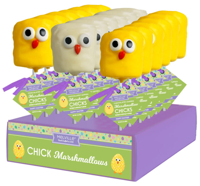 Melville Chocolate Dipped Chick Marshmallow