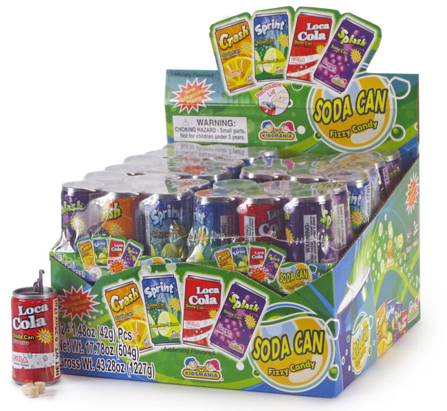 Kidsmania Soda Can Fizzy Candy (6 Pack)
