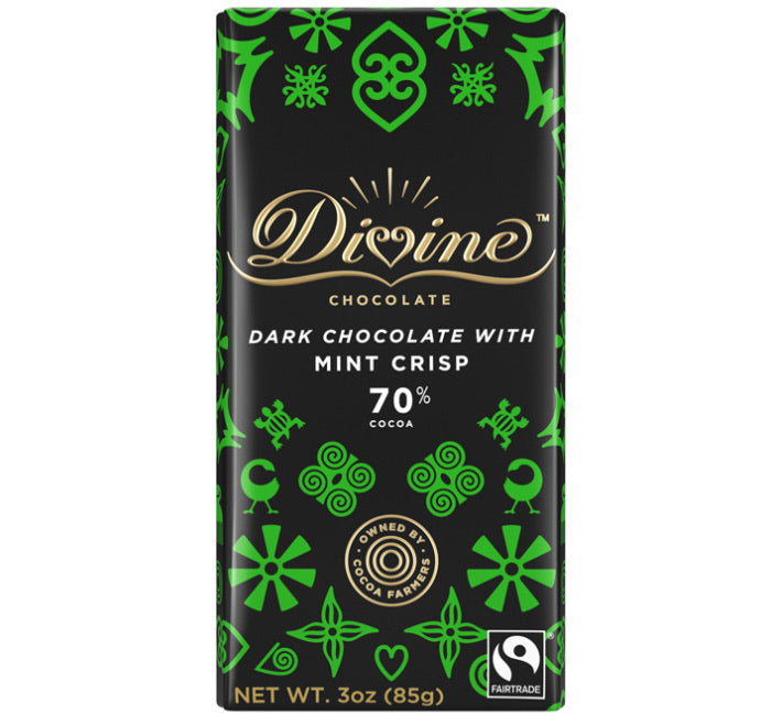 Divine Chocolate Bar 70% Mint - Dark