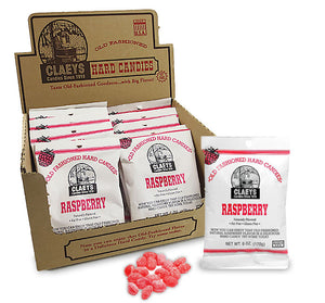 Claeys Old Fashioned Hard Candy - Raspberry