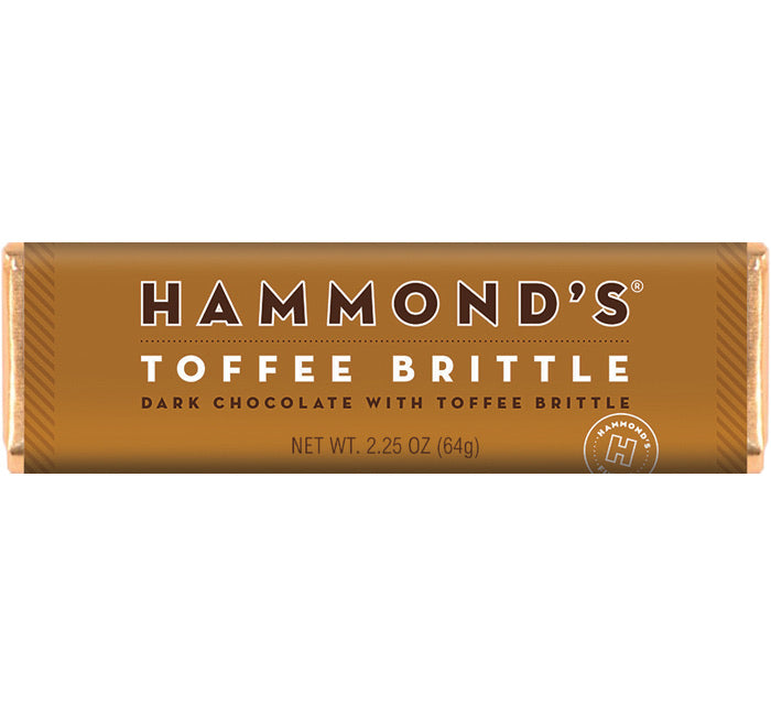 Hammond's Bar Toffee Brittle - Dark