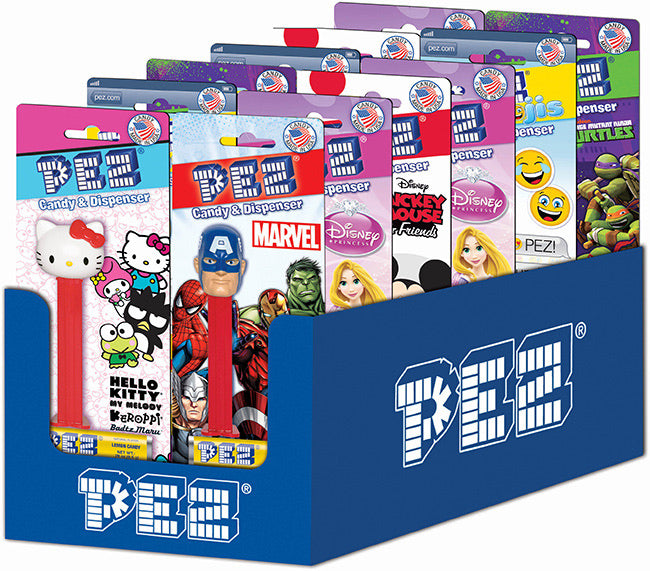 PEZ Blister Pack - Favorite Characters Assortment