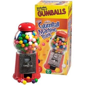 Carousel Classic Gumball Machine Bank 9""