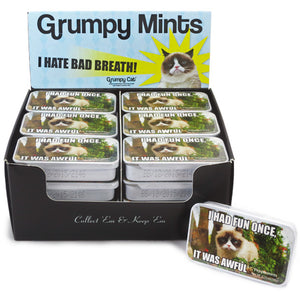 Grumpy Cat Tin Sugar Free Mints