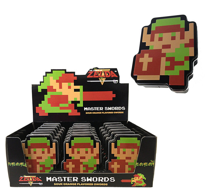 Nintendo Zelda Link Master Swords Orange Sour Tin