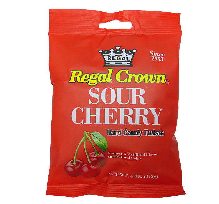 Regal Crown Hard Candy Twists - Sour Cherry