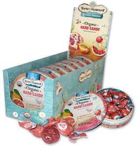 Torie & Howard Organic Candy - Hard Candy Tin - Pink Grapefruit & Tupelo Honey