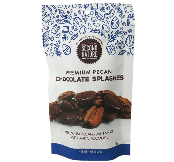 Second Nature - Premium Pecan Chocolate Splashes