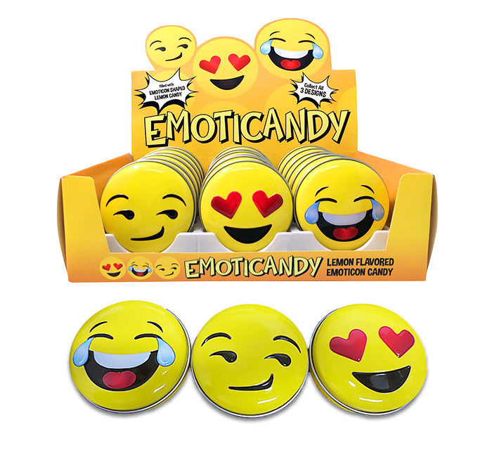 Emoticandy (EMOJI) Sour Lemon Candy Tin