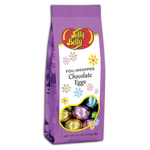 Jelly Belly Foil-Wrapped Chocolate Eggs 6.0 oz