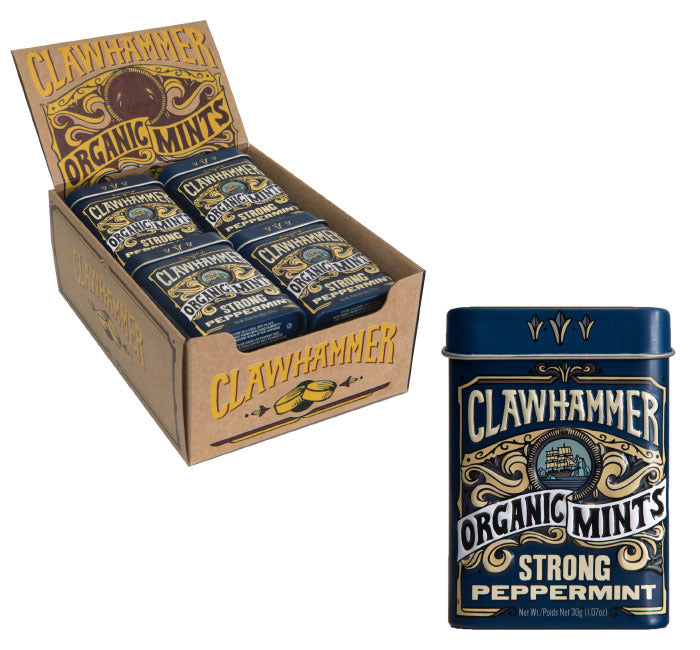 Clawhammer Organic Mints - Strong Peppermint