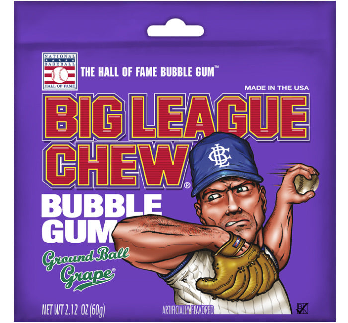 Big League Chew Bubble Gum - Grape