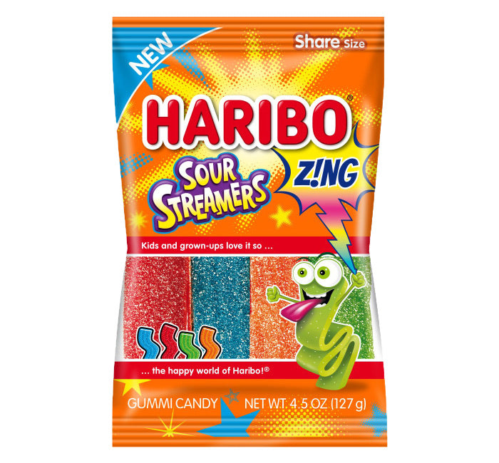 Haribo Zing Sour Streamers