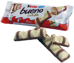 Kinder Bueno Bar W/ Hazelnut - White