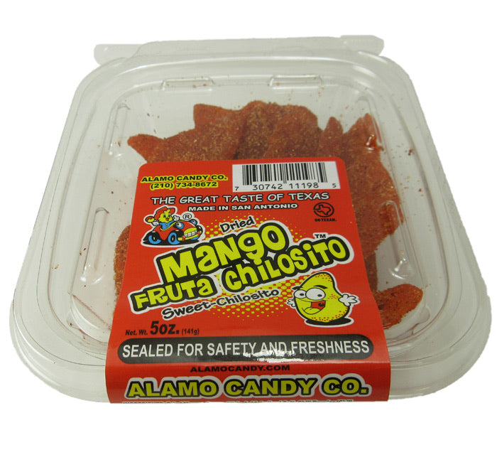 Alamo Candy - Mango Fruta Chilosito - Dried Chili Mango - Tub