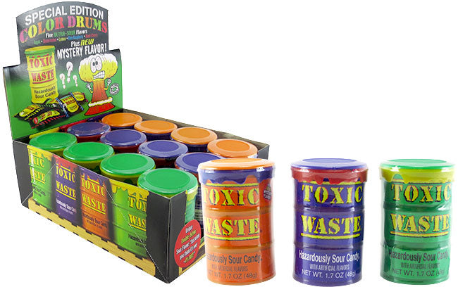 Toxic Waste Drums Assorted Colors (Approx 15 PCS)