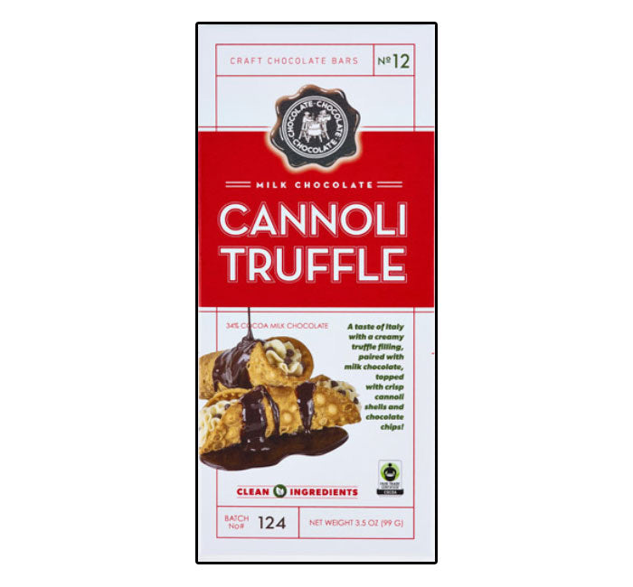 C3 Chocolate Bar - Milk Cannoli Truffle