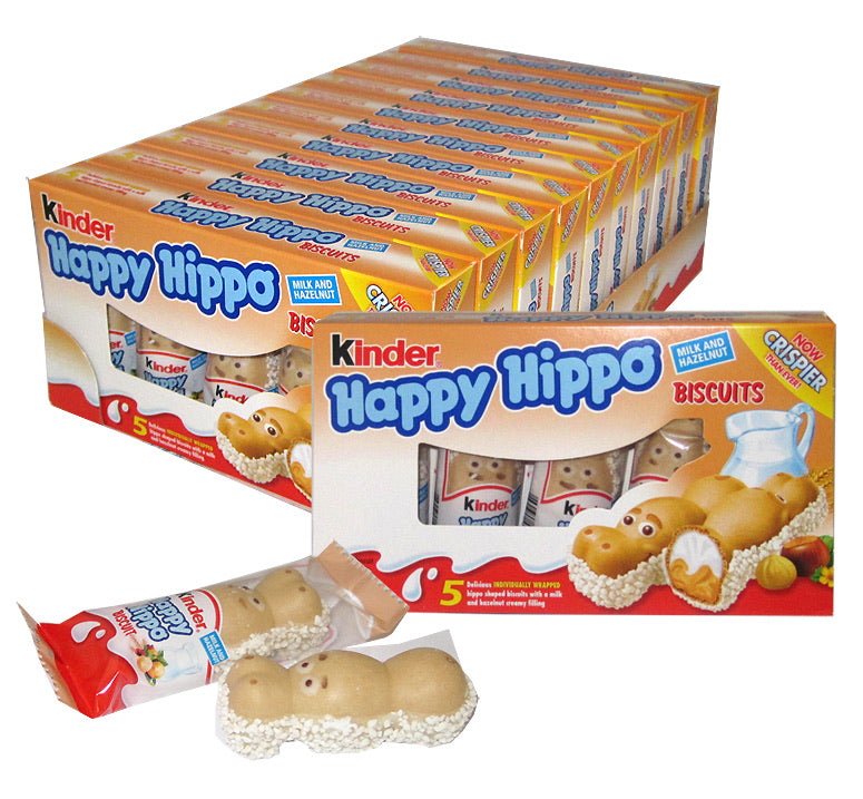 Kinder Happy Hippo Hazelnut Biscuits - 5 Piece