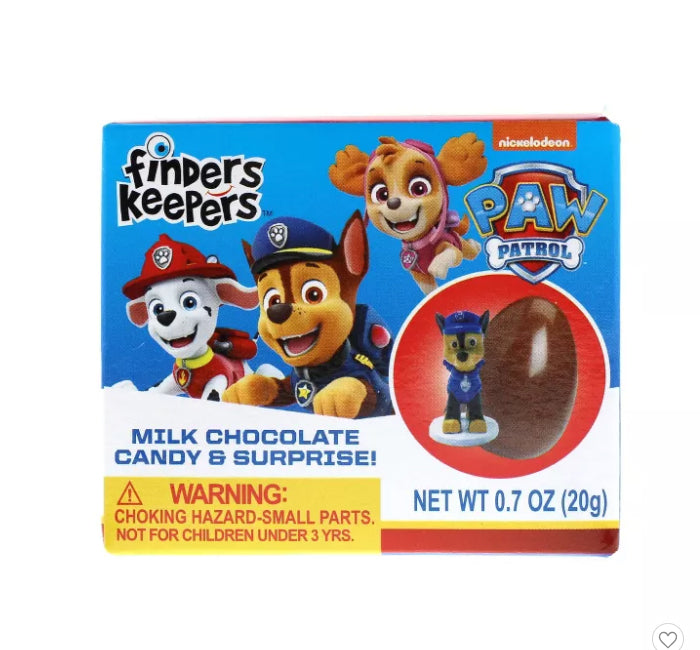 Finders Keepers Milk Chocolate Egg W/ Toy - Paw Patrol