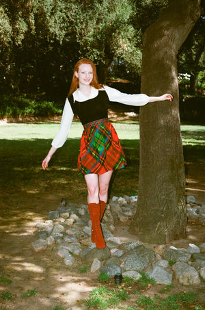 vintage 1970s 70s mini dress tartan