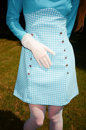 vintage 1960s 60s permapress mod micro mini dress
