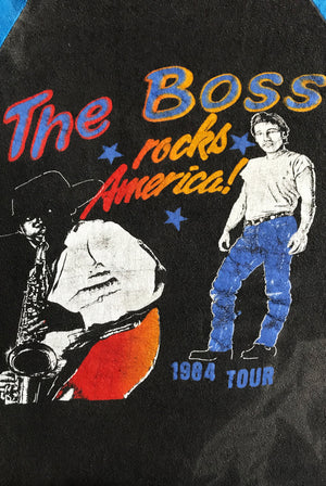 Vintage 1984 bruce springsteen born in the usa band tour tshirt