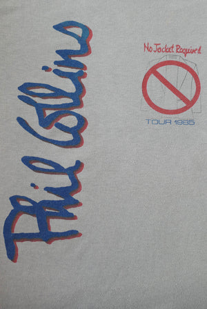vintage 1985 1980s 80s phil colins no jacket required tour music band t-shirt