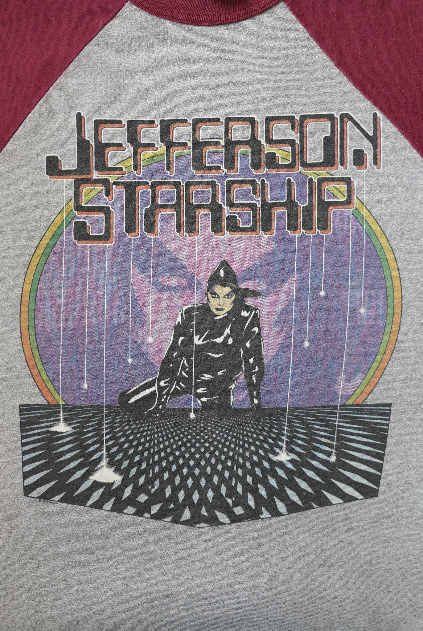 vintage 1980s 80s 1981 jefferson starship raglan music band t-shirt