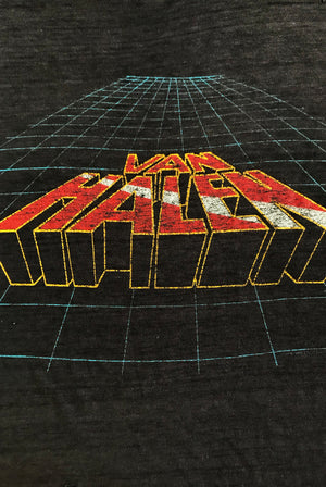 Vintage 1982 van halen lion distressed thrashed tshirt