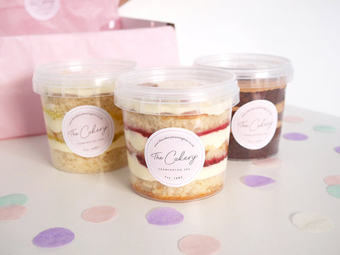 Eggless Cake Tubs Box of 3 - Mix & Match