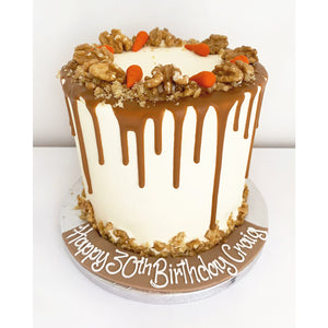 Carrot & Walnut Drip Cake
