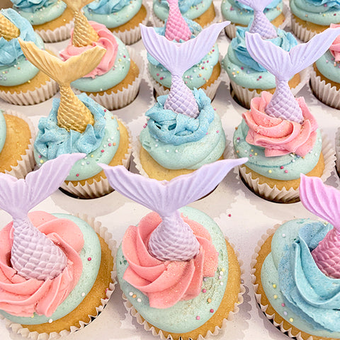 Colourful Mermaid Cupcakes