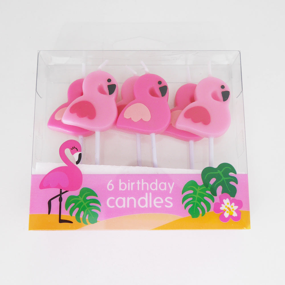 Flamingo Birthday Candles Pack of 6