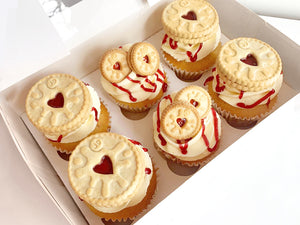 6 Jammie Dodger Cupcakes - NEW!