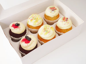 'Party Box' Selection of 12 Eggless Cupcakes