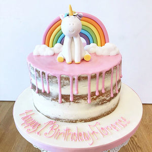 Unicorn Rainbow Drippy Cake