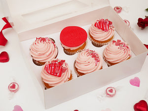 'Pink to Make You Wink' 6 Valentine's Day Cupcakes