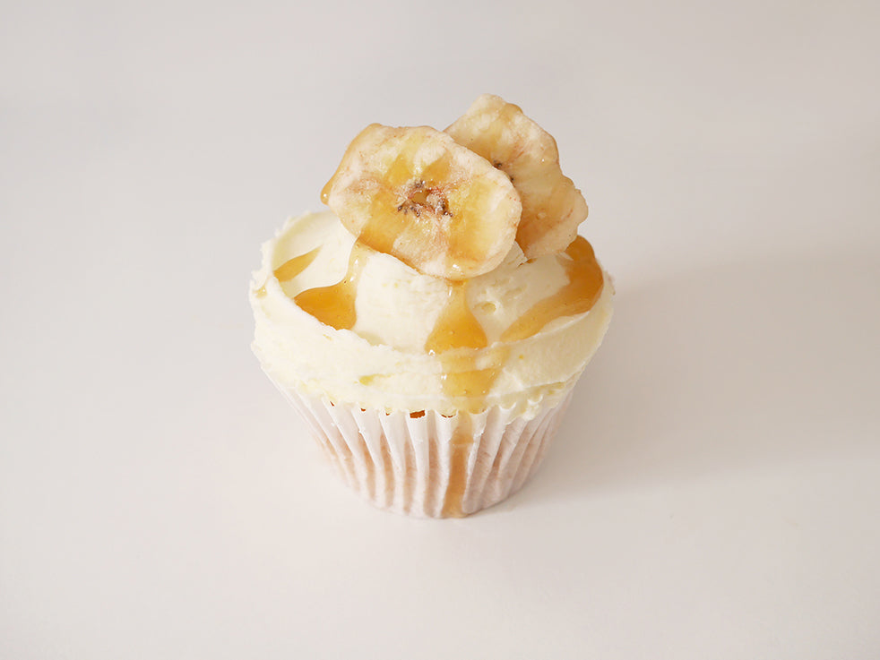 12 Eggless Banoffee Cupcakes