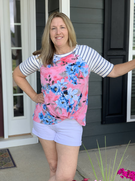 Paradise in Floral Twist Top