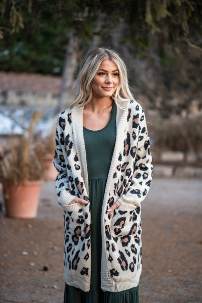 Spot On Leopard Cardigan- Ivory