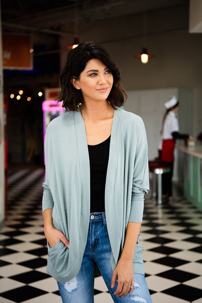 Turn A Look Cocoon Cardigan- Light Green